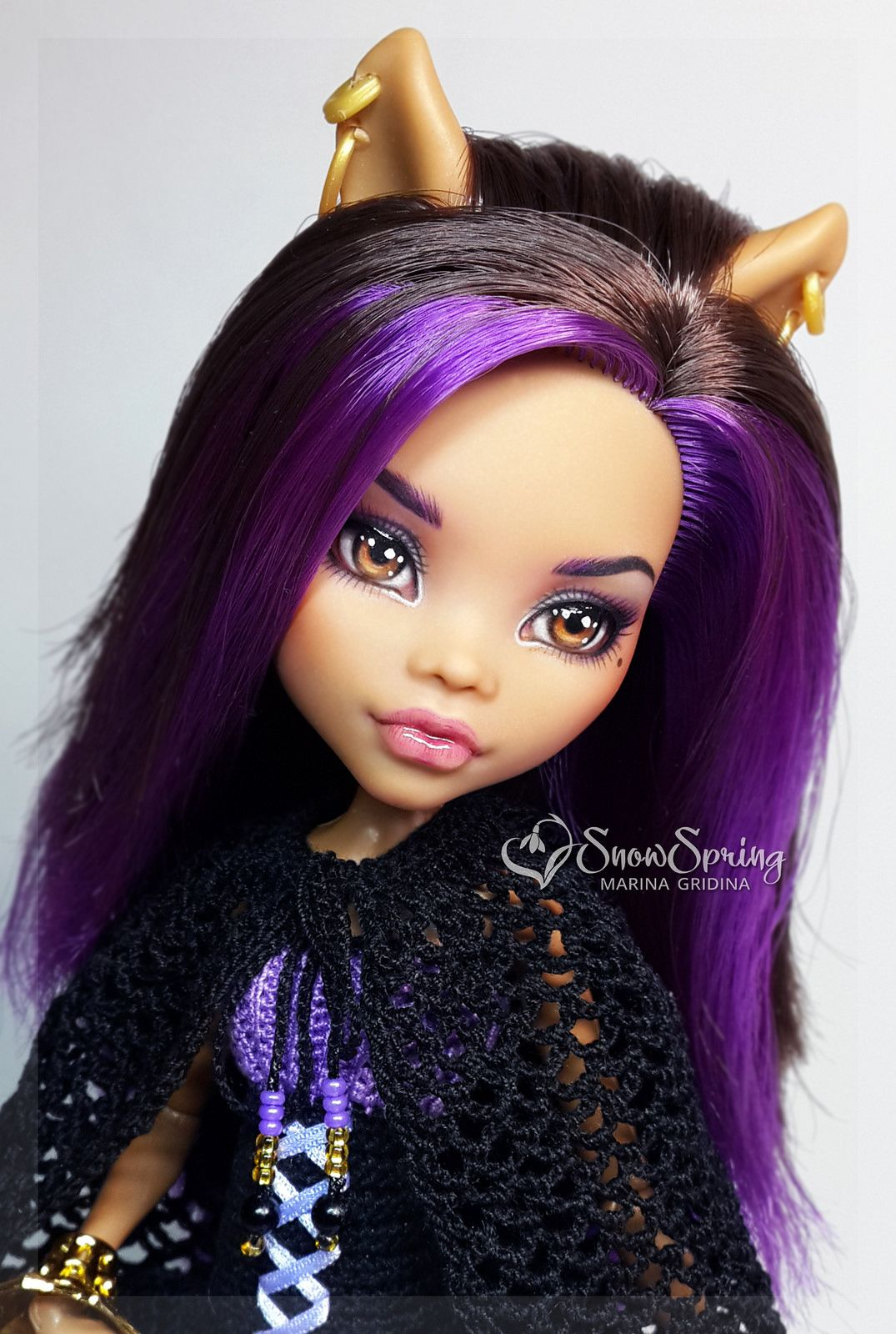 OOAK Clawdeen Wolf | to make a home    | Monster dolls, Monster high