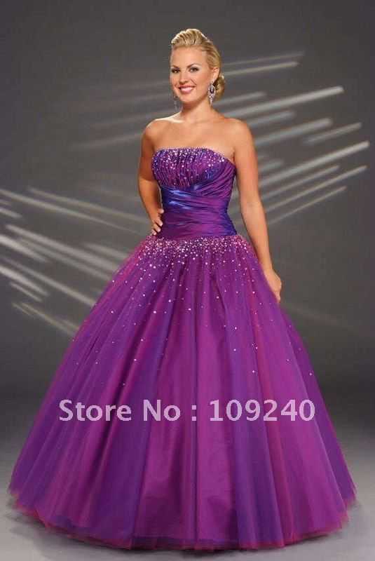 High end Free Shipping White purple Wedding Dresses  a337f38ca5bd