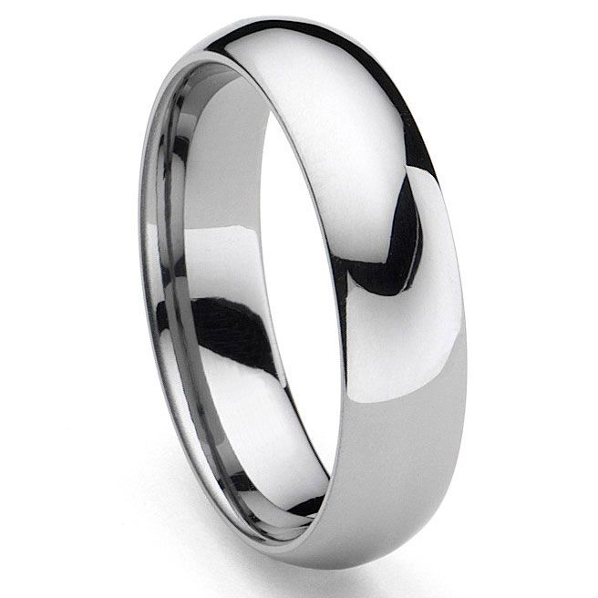 Classical Tungsten Carbide Men S Plain Dome Wedding Band