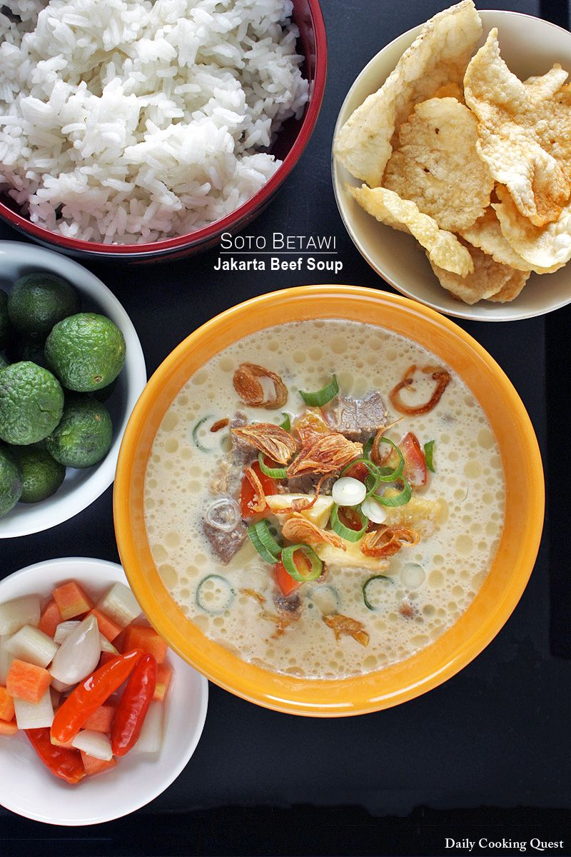 Soto Betawi Jakarta Beef Soup Recipe Recipes To Cook