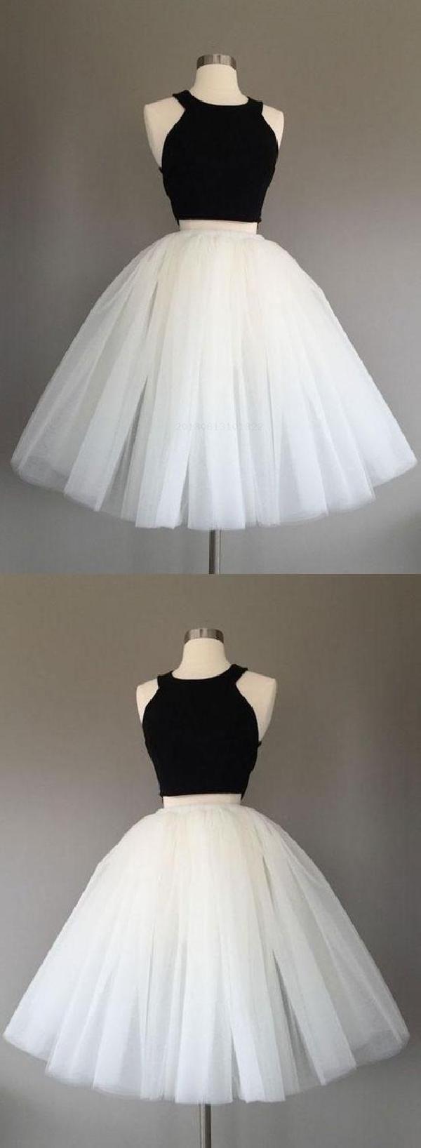 Hot sale cute black homecoming dresses homecoming dresses white