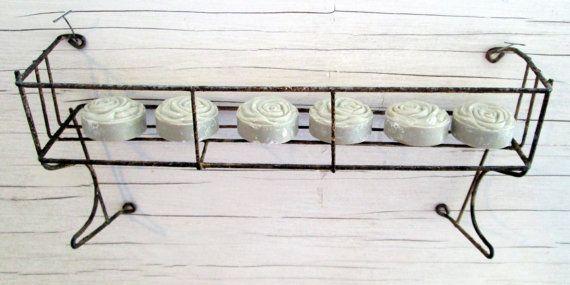 Two Antique Wire Baskets Shelf Cabinet Holder by Holliezhobbiez, $15.00