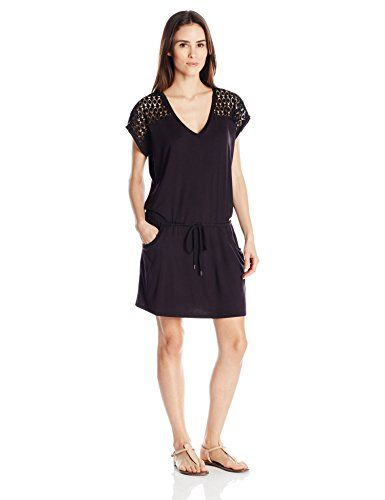 Calvin Klein Women's V-Neck Crochet Tunic Cover Up - http://darrenblogs.com/2016/03/calvin-klein-womens-v-neck-crochet-tunic-cover-up/