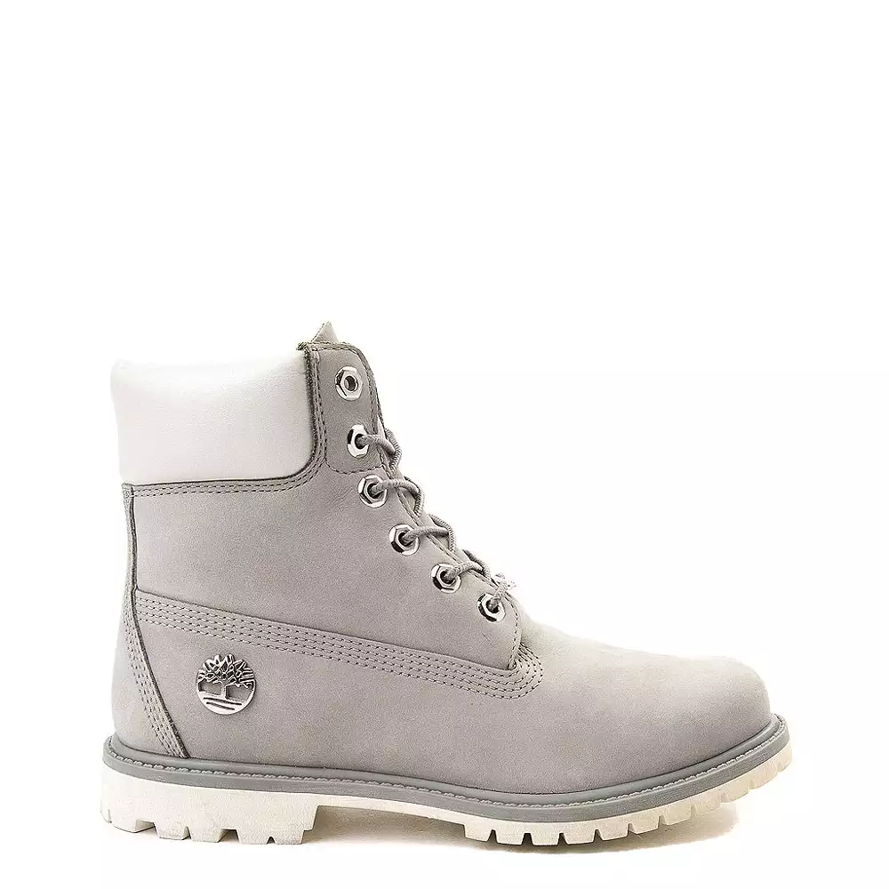 Metallic Collar Premium Boot - Gray