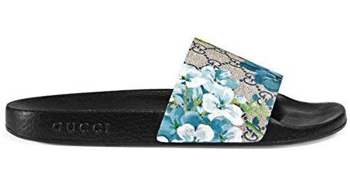 9207b0aa6b0 Gucci GG ST. Blooms Place Men s Runway Supreme Monogram Slide Sandal (12.5  US