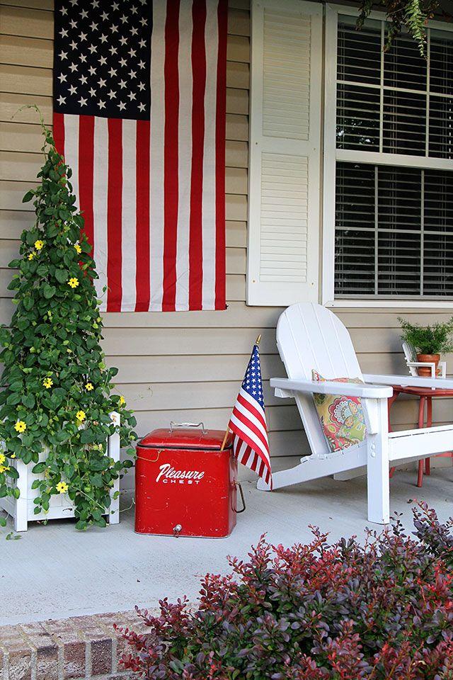 15 Diy Patriotic Home Decor Ideas Patriotic Decorations Diy And Crafts Sewing Decor