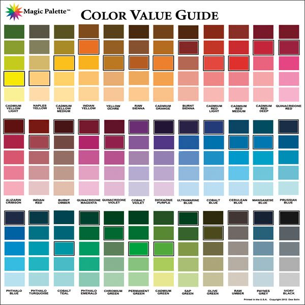 How To Paint An Acrylic Color Mixing Chart Interpretive Color Mix Chart Acrylic Paints Color Mixing Chart Acrylic Paint Color Chart Color Mixing Chart