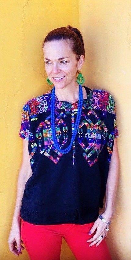 Ethnic Maya Woman\'s Vintage Huipil/Poncho: Nahuala, Guatemala ...