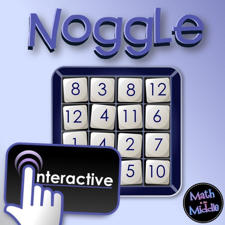 Play a game of Noggle FREE!  Fun interactive game your students will love - great for practicing all operations with numbers!  (game works on PCs, MACs, and IPADs)!