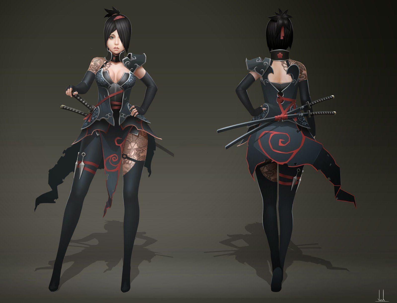 Game Character Design Apps : Samurai ninja 2 joshua xiong on artstation atu2026 game character