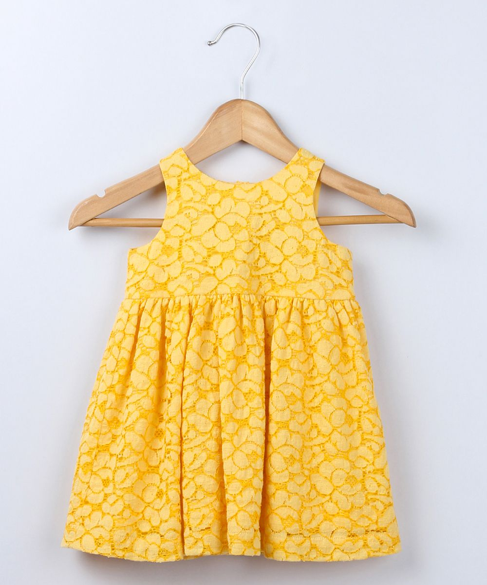 Yellow dress kids  Yellow Lace Dress  Infant u Toddler  Daily deals for moms babies
