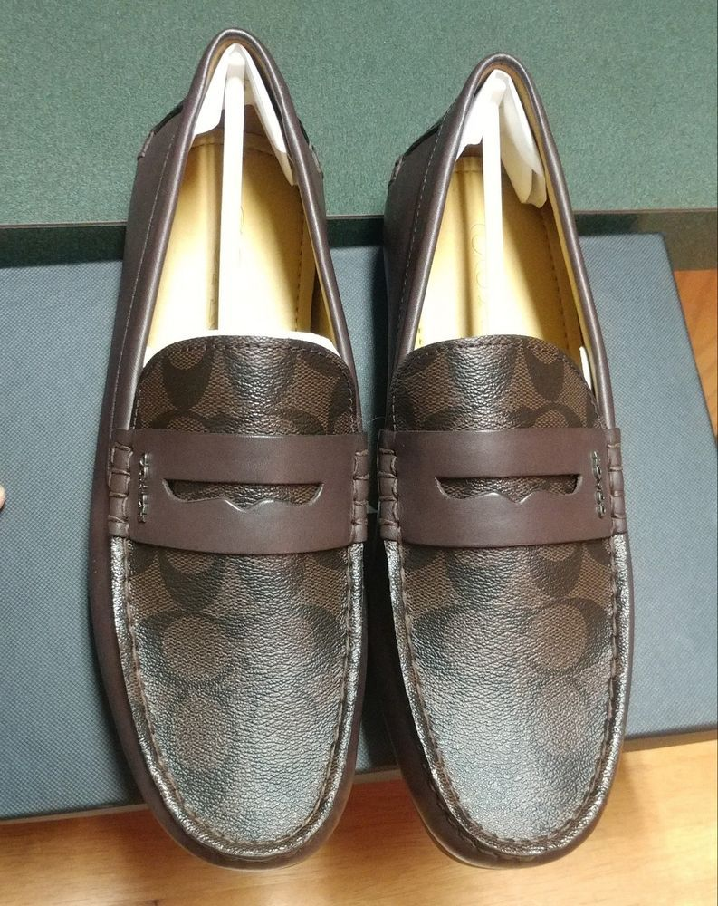 COACH Men's Leather Loafers 7.5D