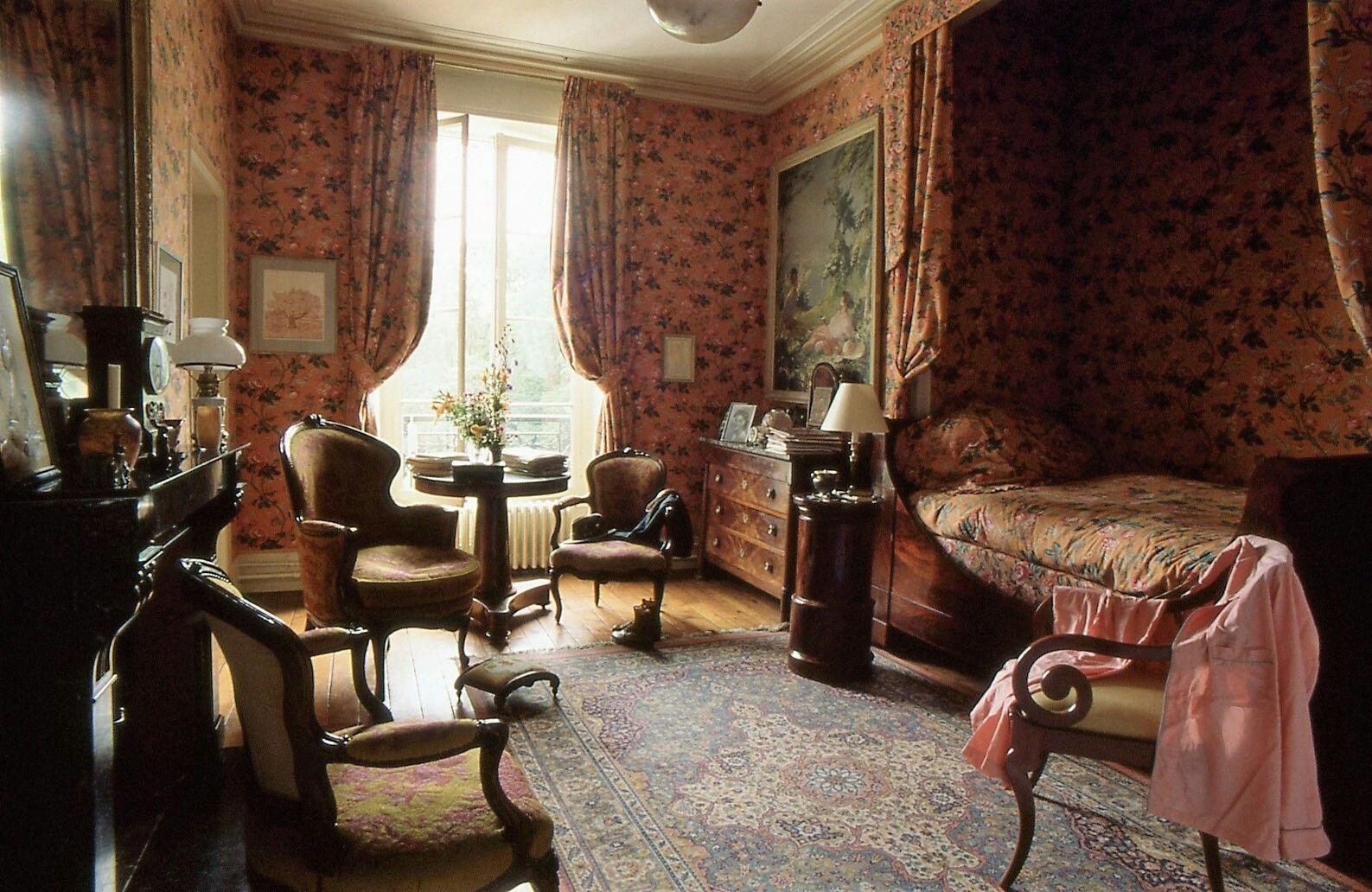 chambre #tissus #alcove #manoir #campagne #française | Décoration ...