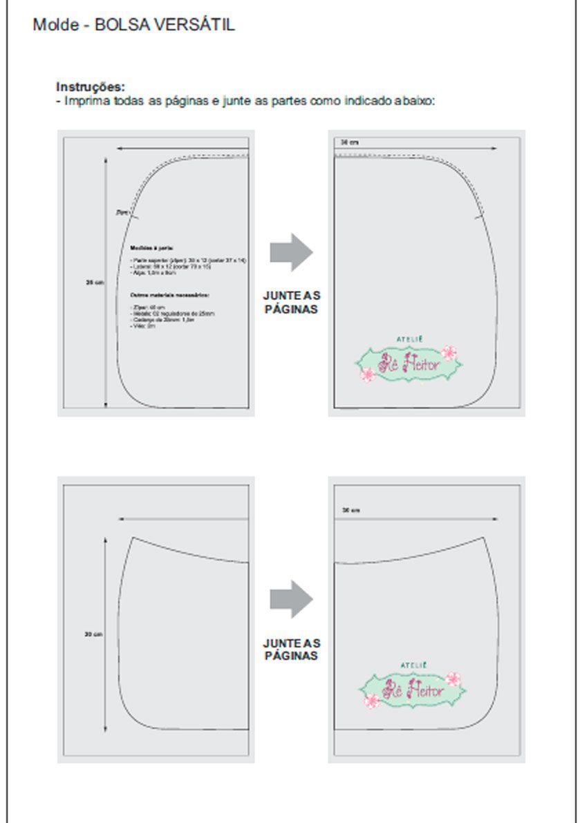 molde-1 | bolsas y carteras | Pinterest | Sewing, Diy bags y Sewing ...
