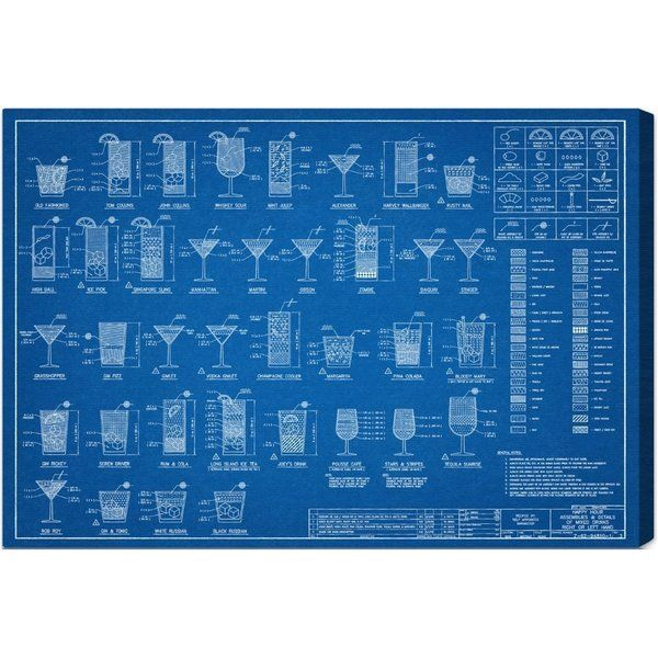 No happy hour is complete without this vintage drink mixing no happy hour is complete without this vintage drink mixing blueprint art from the oliver gal industrial malvernweather Image collections