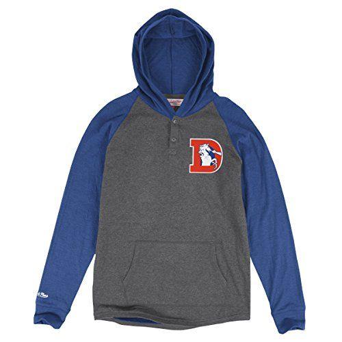 f887b4e86ca Denver Broncos Mitchell Ness NFL Home Stretch Long Sleeve Hooded Shirt --  Visit the image link more details.