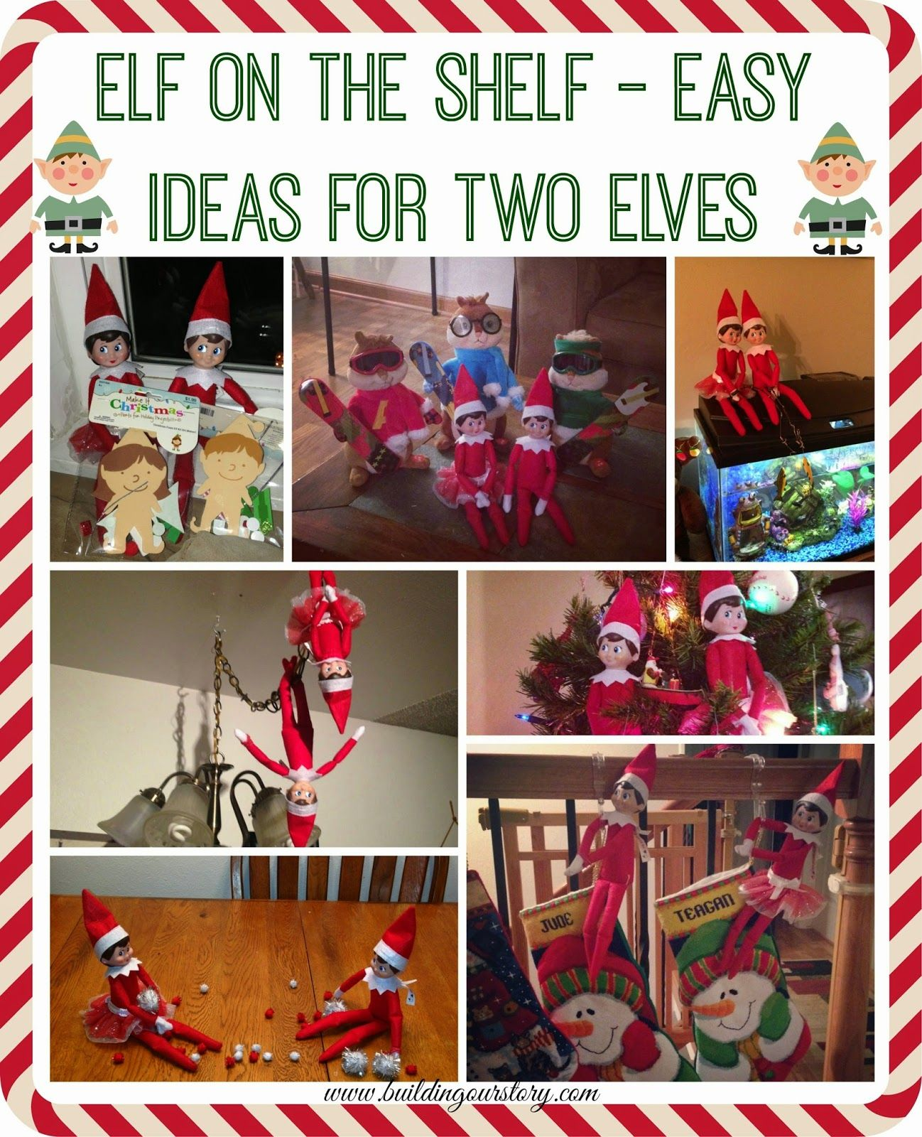 Elf on the Shelf - Easy Ideas For Two Elves | Building Our Story