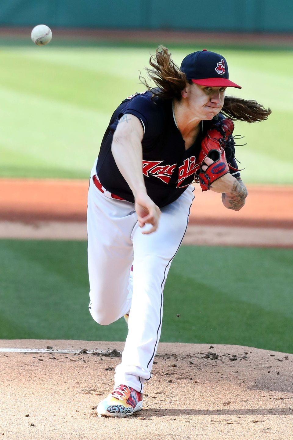 Cleveland Indians Mike Clevinger, pitching against the