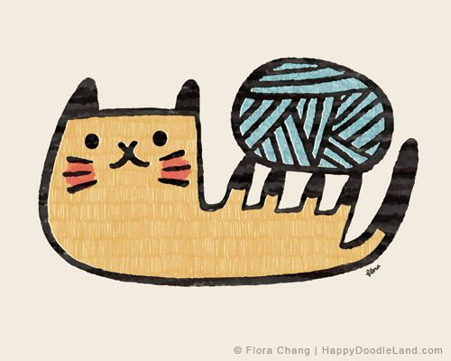 Flora Chang - Yarn Kitty, limited edition print for WWA Gallery