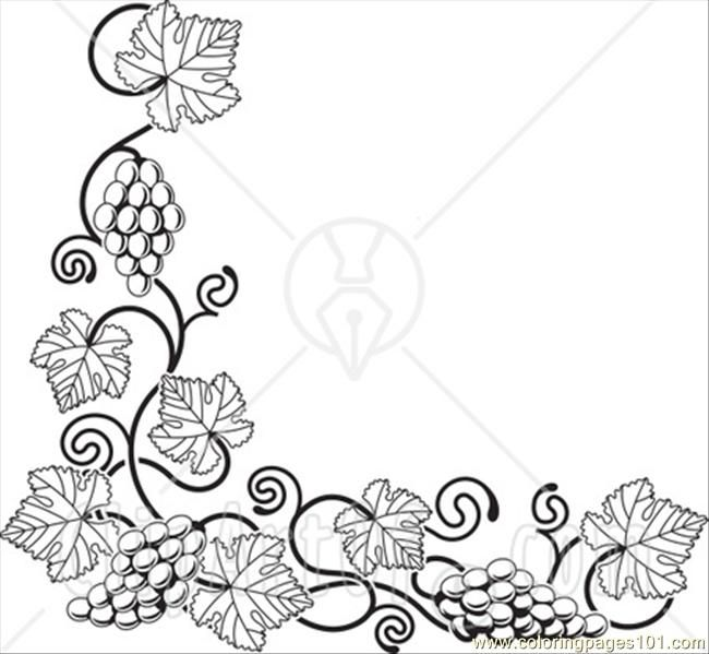 pictures of grapes to color | Coloring Pages Ong A Bottom Left ...