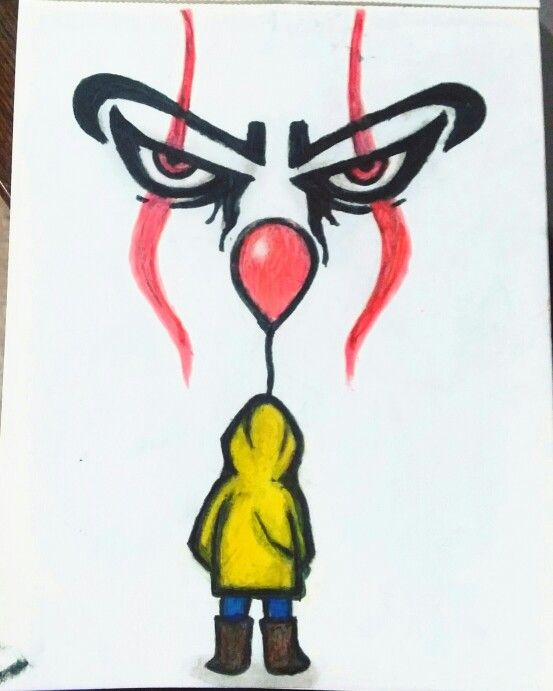 Pennywise It Drawing Hippie Painting Art Drawings Simple Scary Clown Drawing