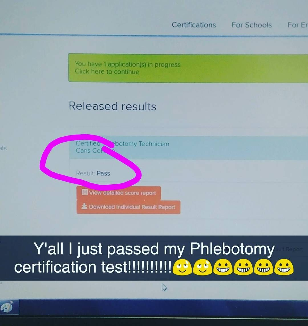 Posted it on my snapchat first but yall i had my phlebotomy posted it on my first but yall i had my phlebotomy certification exam today and i paaaaaaassed 1betcityfo Gallery