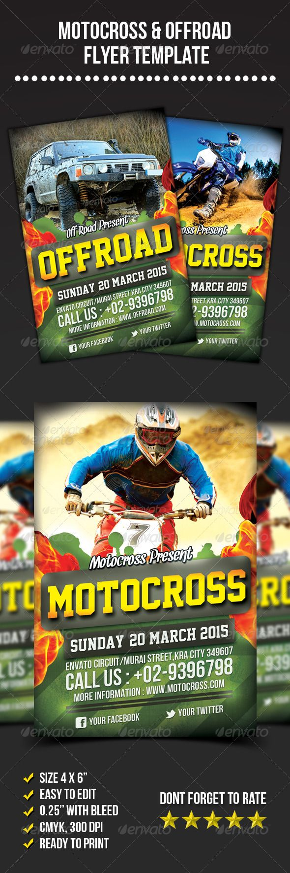 Motocross & Offroad Flyer | Marketing by Yari E\'Roan | Pinterest