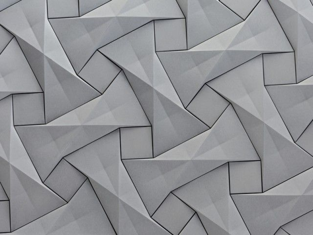 Fubiz™ Concrete Origami Tile by Ilan Garibi for KAZA