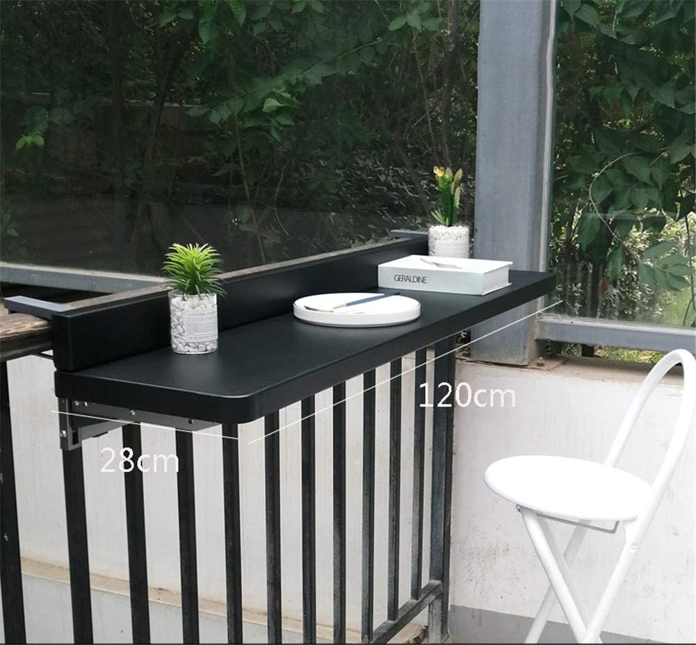 Balcony Hanging Table Folding Adjustable Railing Dining Side Table Suitable For Most Patio Railings 2 Sizes In 2020 Patio Railing Outdoor Folding Table Hanging Table