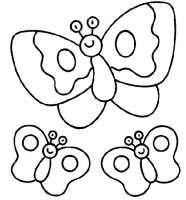 Animales De Primavera Para Colorear Mariposas23 186x200