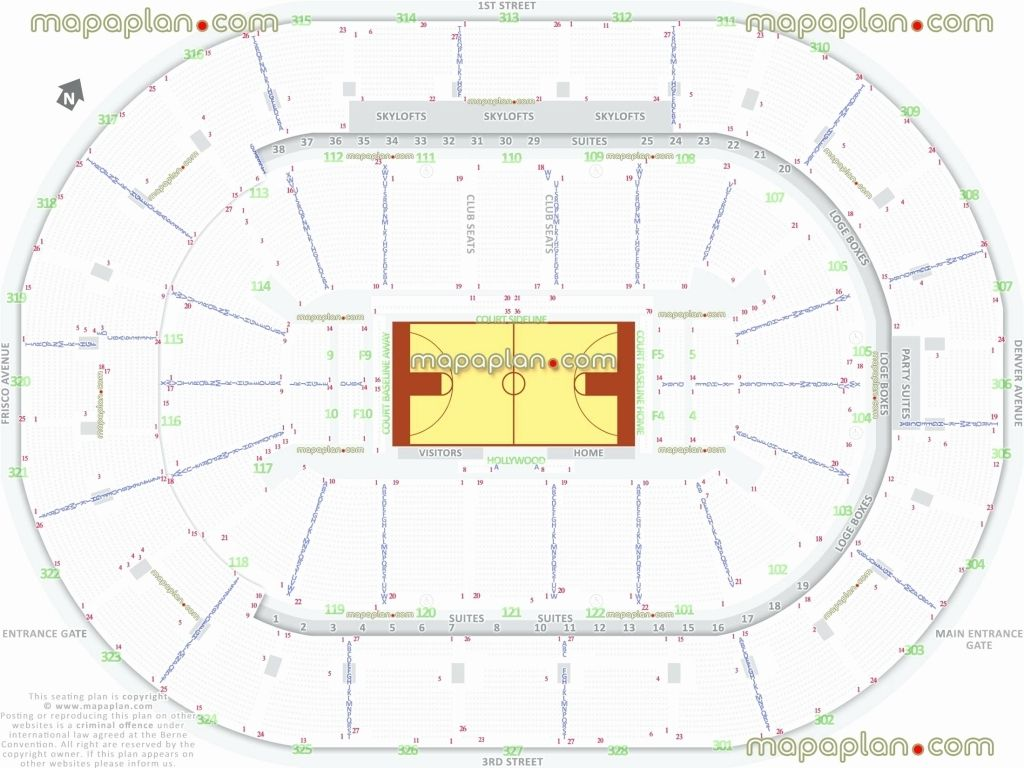 Spectrum Center Seating Chart With Seat Numbers Di 2020