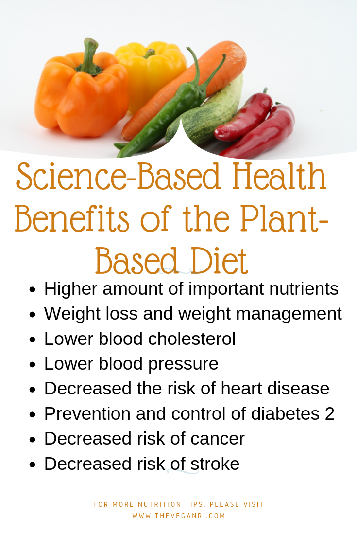 nutrient benefits of plant based diets