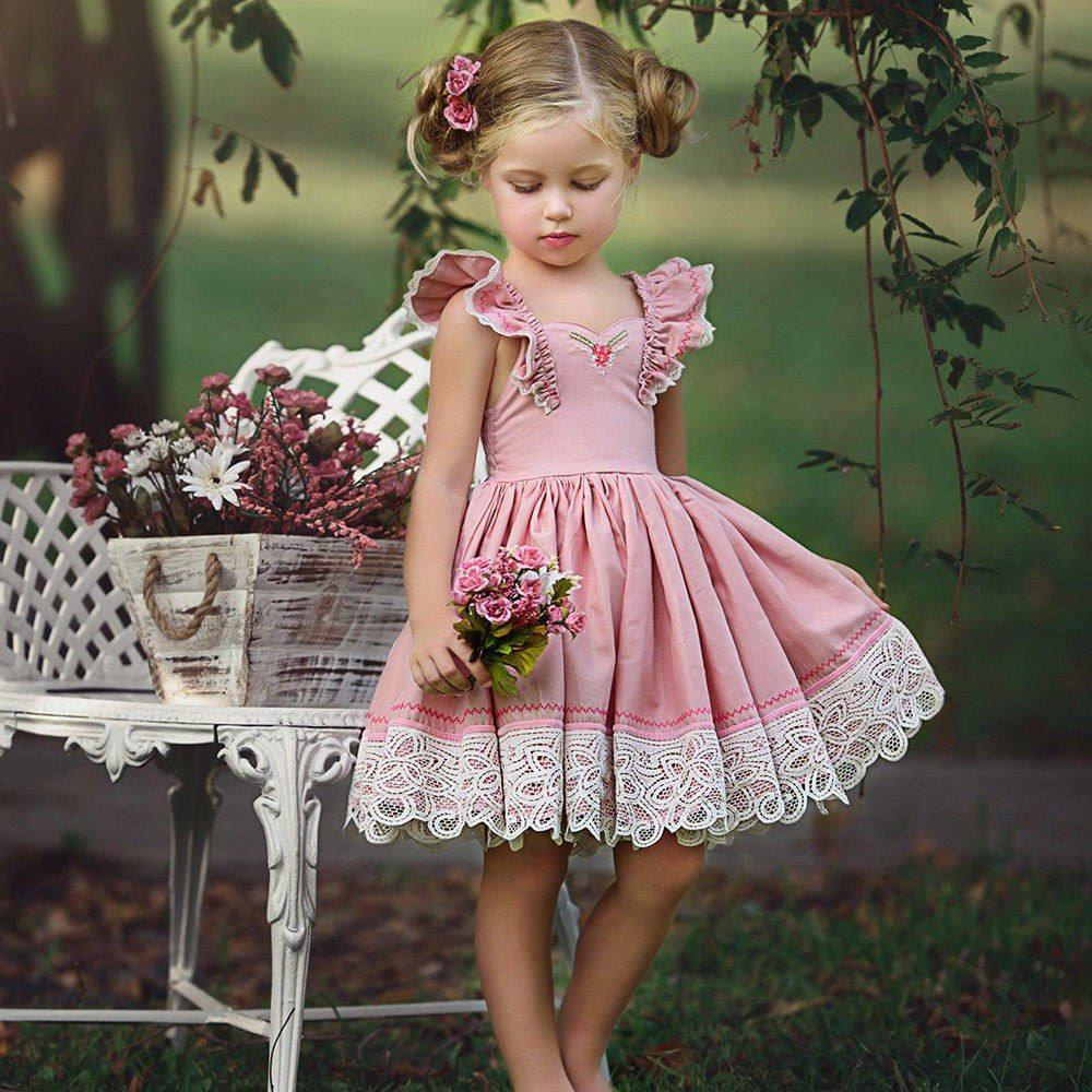 5ce7c8e05af5d 2-7T Toddler Kids Baby Girls Clothing Sleeveless Ruffles Princess ...