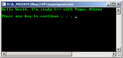 Printing Text C++ Using COUT Syntax [Basic Lesson] | Paper 4Share