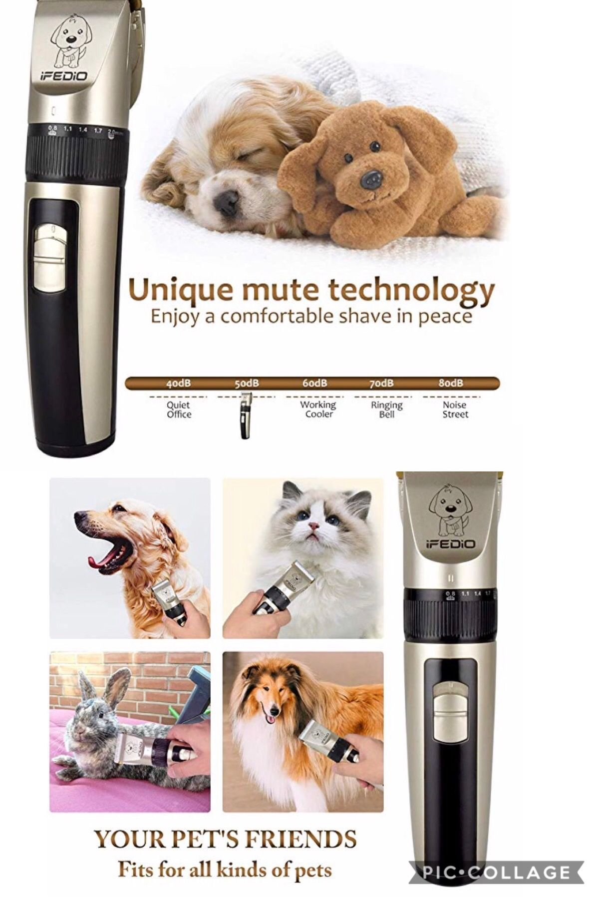 Txpy Professional Dog Clippers Rechargeable Dog Grooming Kit