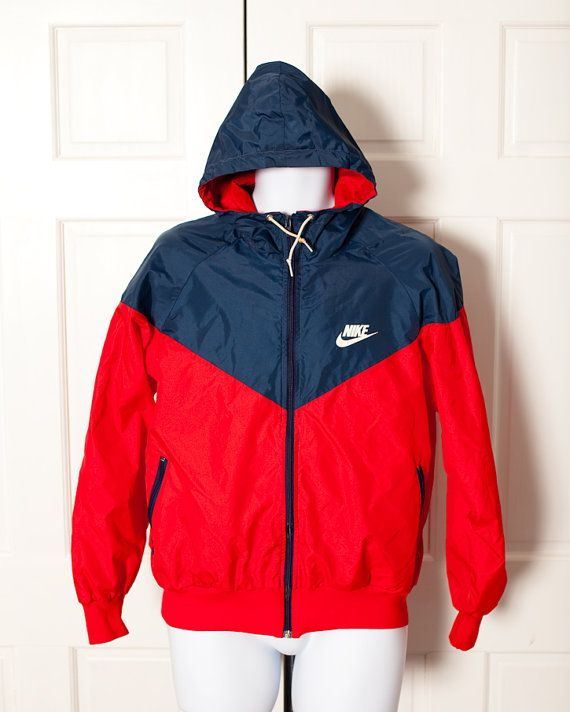 8e5f88b555d2 Vintage NIKE Windbreaker with Hood - L