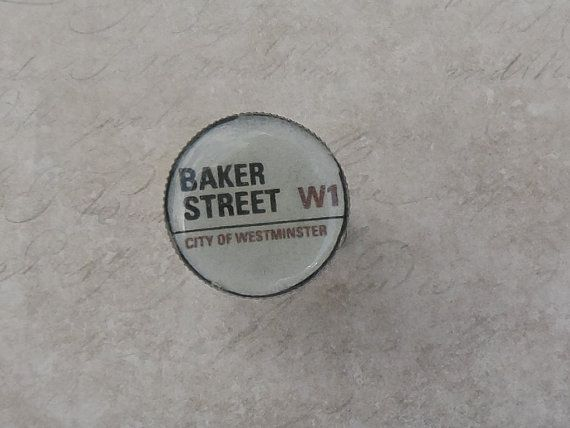 Baker Street W1 Ring  21mm very retro by LazyMouseuk on Etsy, £8.00