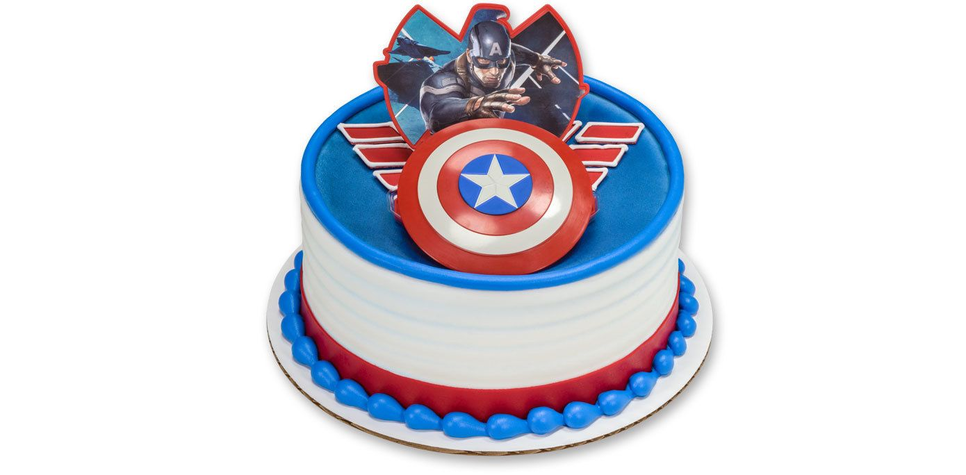 Hockey Face Off Decoset Cake Topper Captain America Cake Captain America Cake