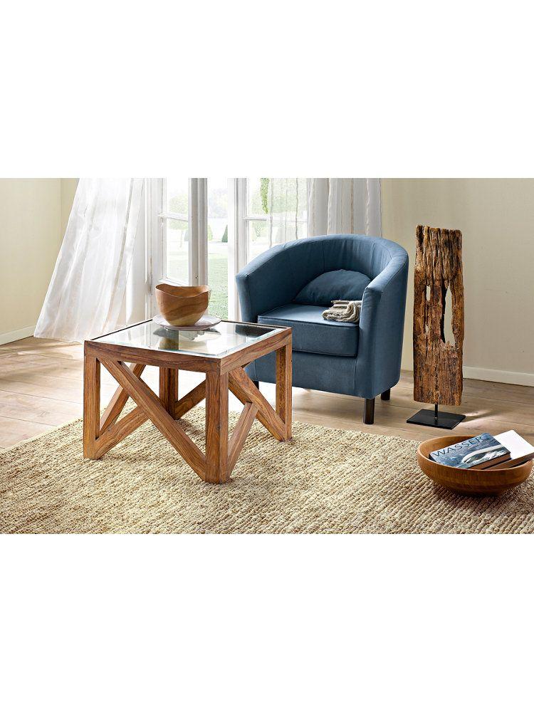 Meubles en bois fauteuil desserte et table basse chez - Helline table basse ...