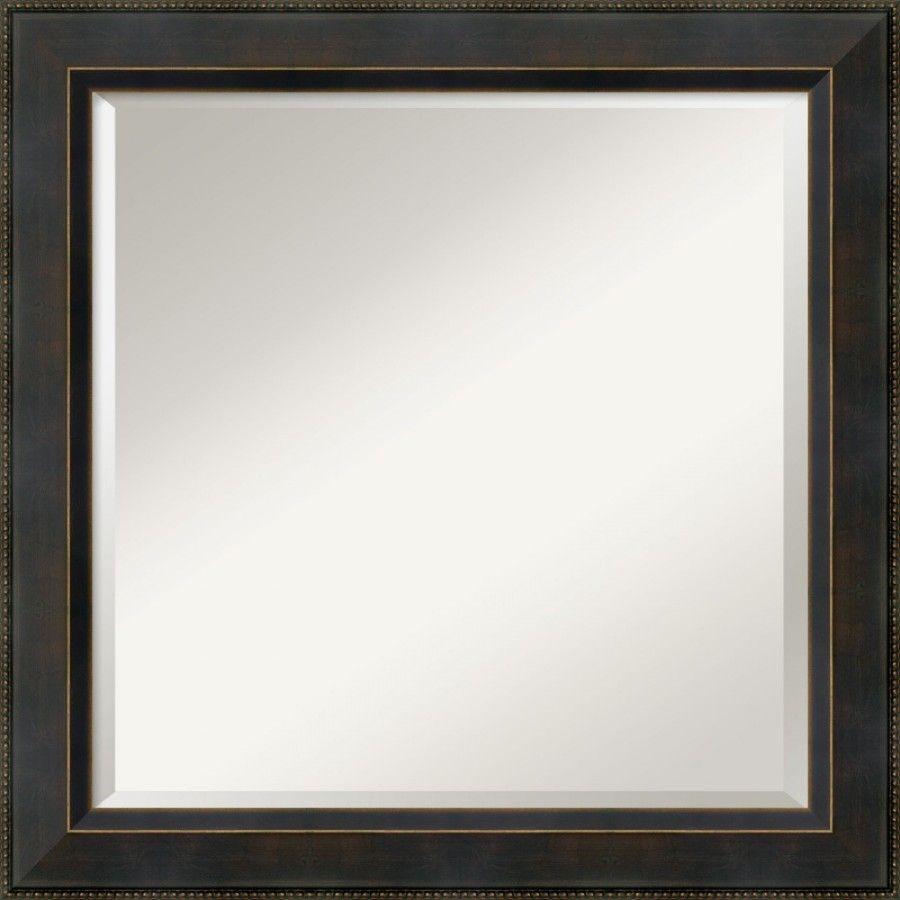 Amanti Art Hemingway Square Mirror in Dark Bronze - DSW01482