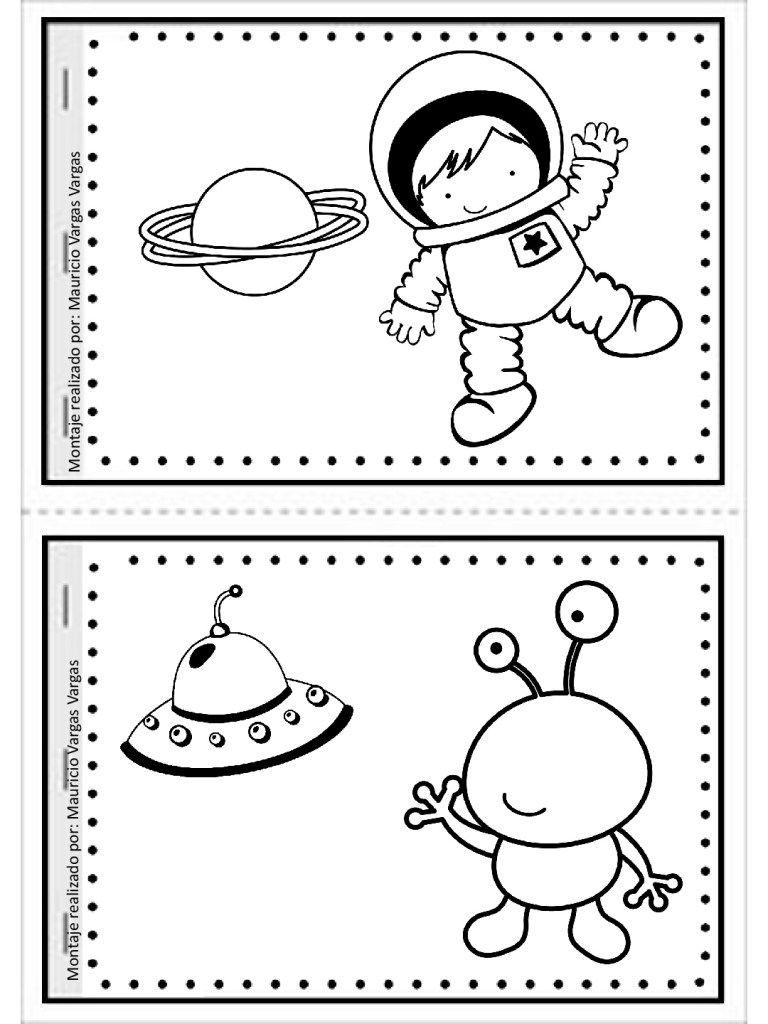 Mi Pequeno Gran Libro Para Colorear Y Dibujar 5 Tema Espacial Preescolar Astronomia Para Ninos Libros Para Colorear