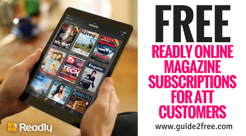 Att Customers: FREE Readly Online Magazine Subscriptions (Up to 18