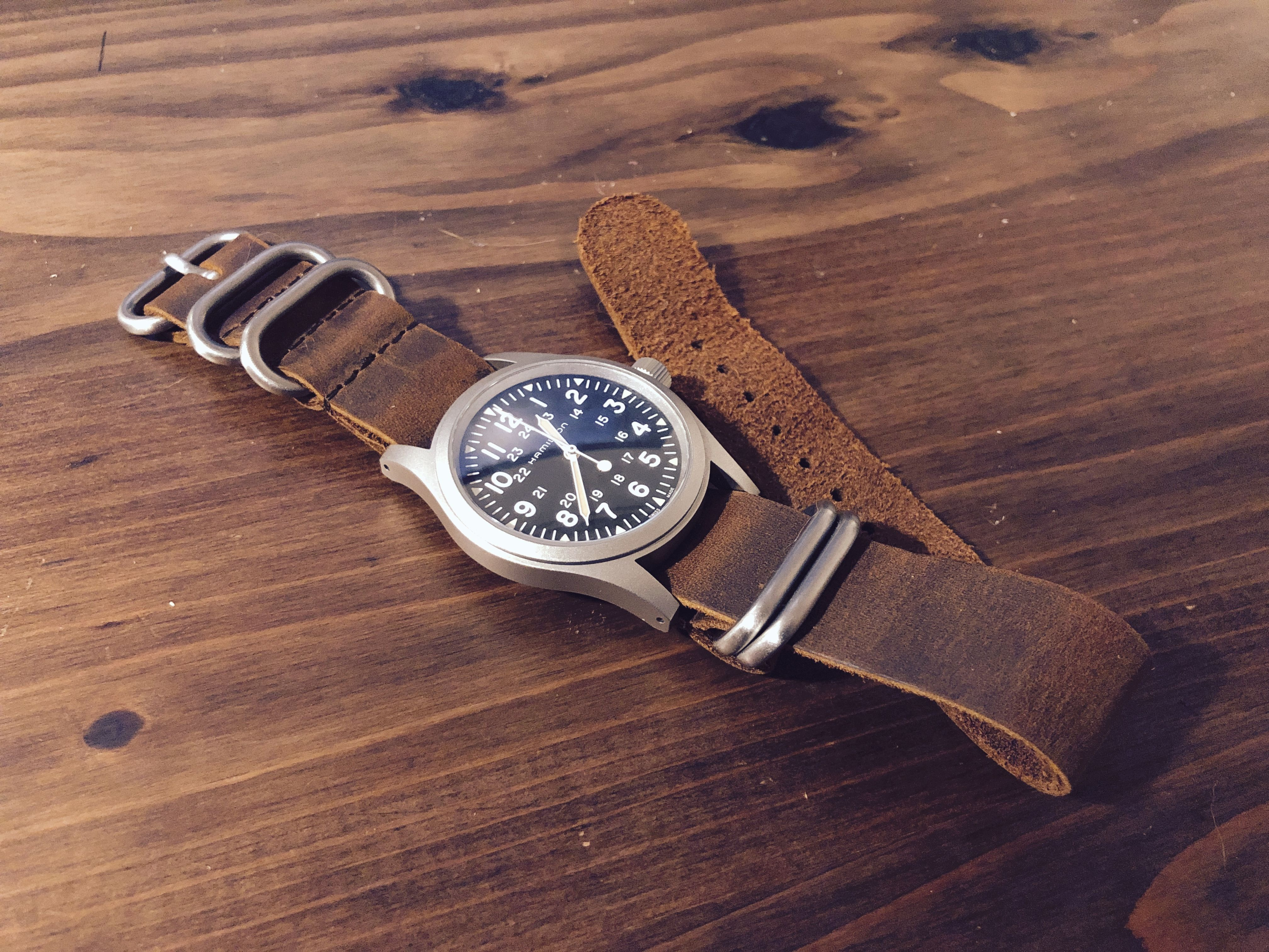 Hamilton Khaki Field Mechanical H69429931 With Vintage Leather Nato