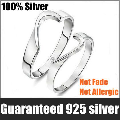 Wholesale 100% Genuine 925 Sterling Pure Silver Love password Lover Ring.TOP quality.One Piece $6.99