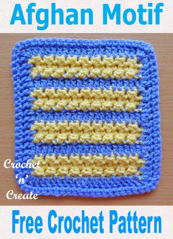 Crochet Afghan Motif Free Crochet Pattern | CrochetHolic ...