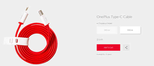 OnePlus starts selling its USB Type-C cable for just $5.49 - https://www.aivanet.com/2015/10/oneplus-starts-selling-its-usb-type-c-cable-for-just-5-49/