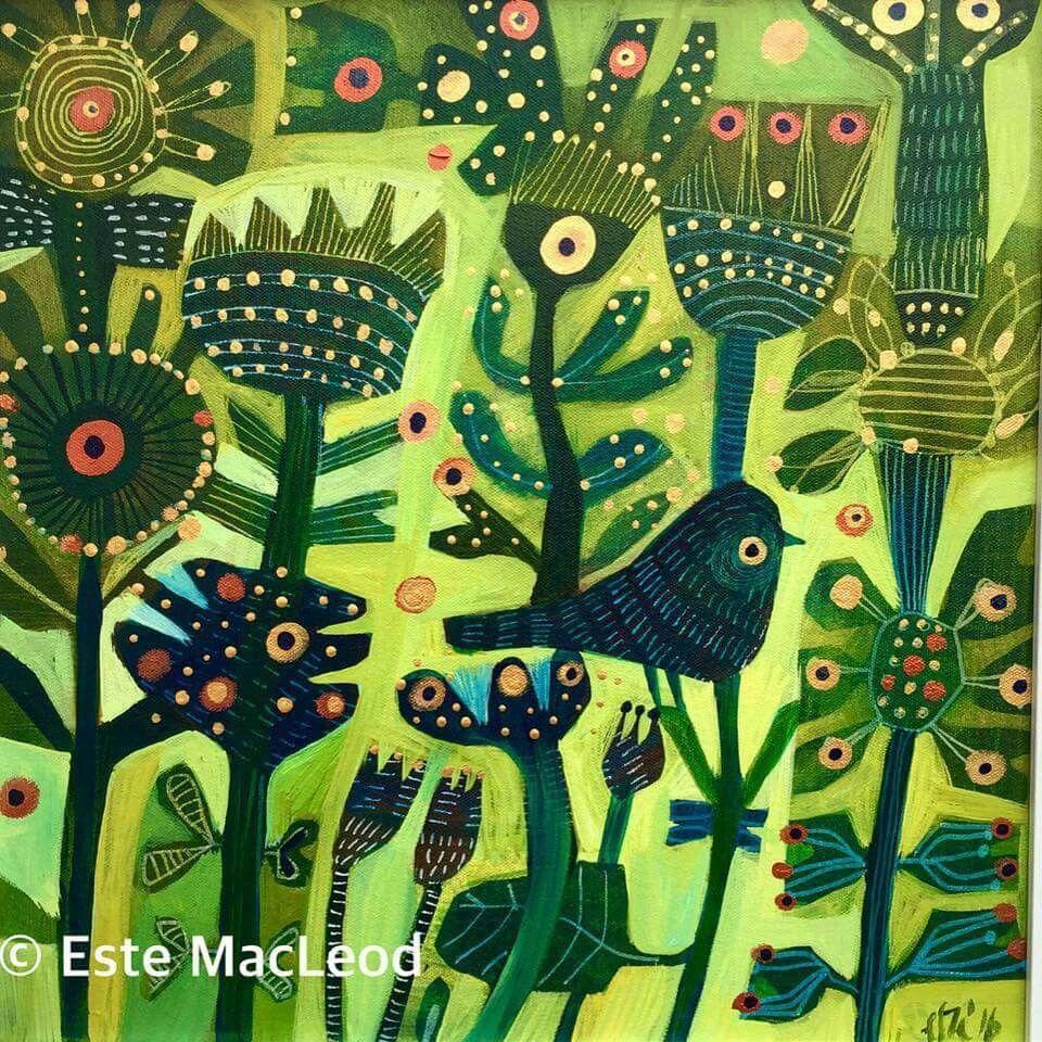 Love this feeling of chirping birds. Wonderfull colours | art so ...