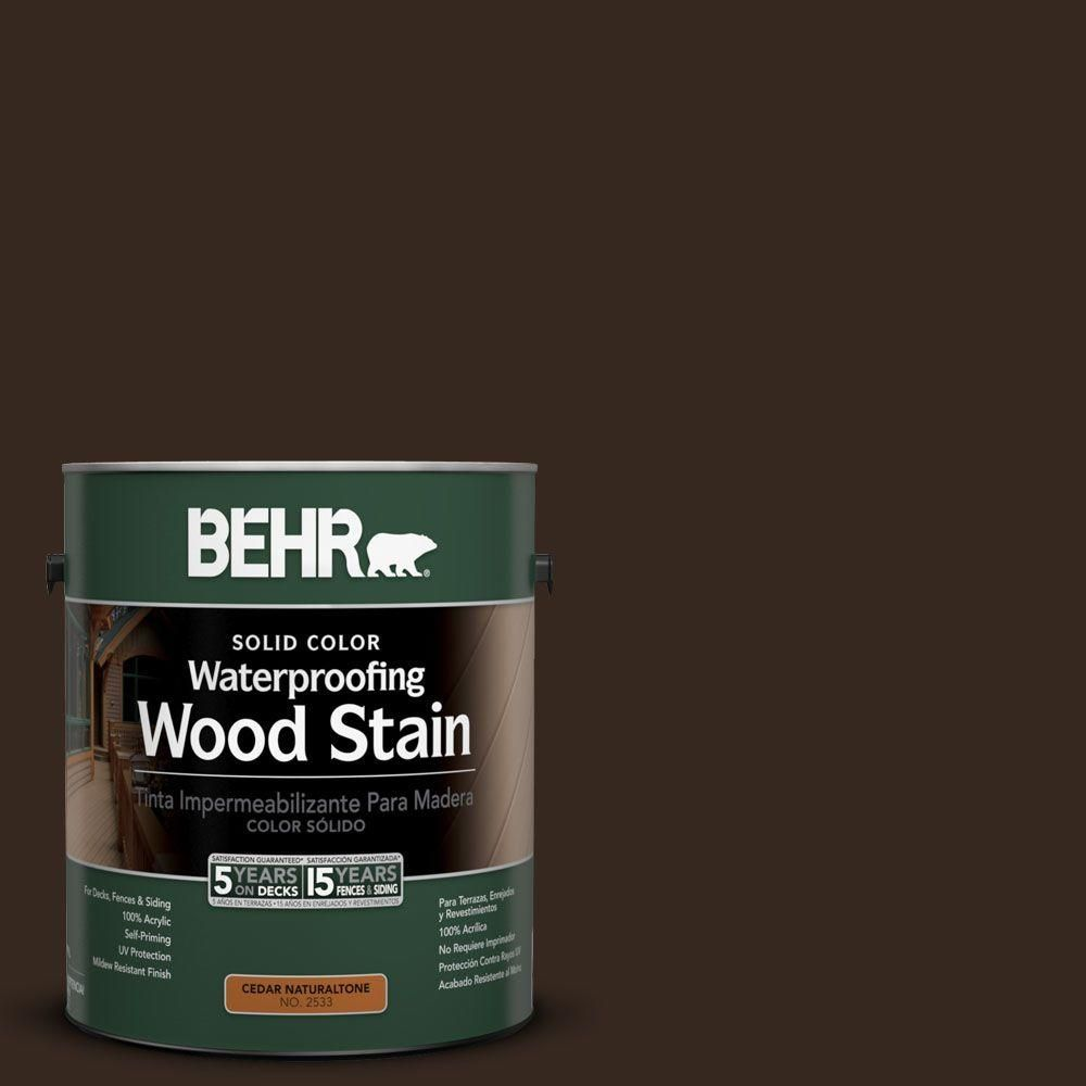 Minwax gel stain colors home depot wood stains color chart car tuning -  Sc 105 Padre Brown Solid Color Waterproofing Wood Stain