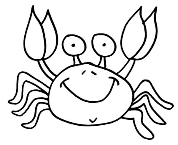 simple crab coloring pages google search
