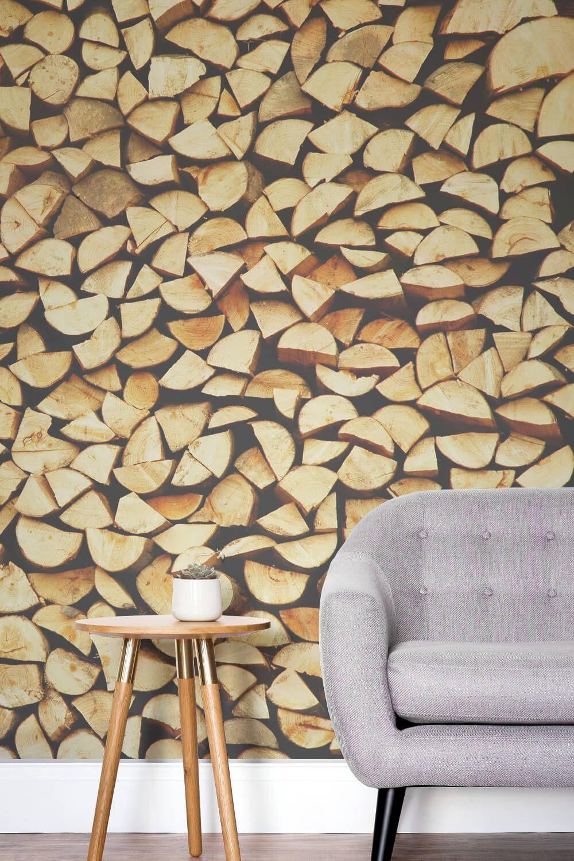 Firewood Wallpaper Chopped Wood Design Muralswallpaper Mural Wallpaper Wood Effect Wallpaper Wood Wallpaper